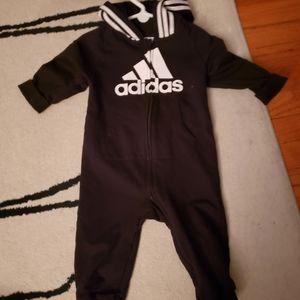 Adidas black baby jumper one piece